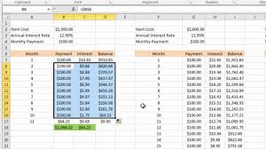 Formula Credit Card Minimum Payment Calculating Credit Card Payments In Excel 2010
