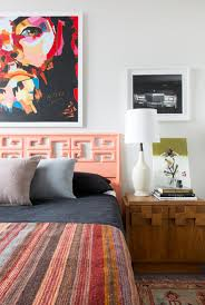 midcentury modern bedroom decorating ideas modern bedroom with coral accents