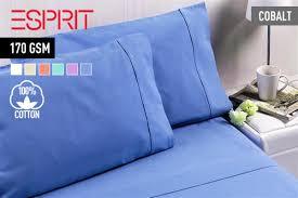 scoopon delivered esprit flannelette queen sheet sets