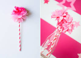 ruff draft diy tissue paper flower from our birthday doll