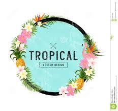 Tropical Design Tropical Design Stock Vector Image 89026537