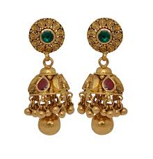gold jhumka earrings design with price earrings grt jewellers at singapore from 3rd july