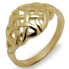celtic wedding knot ceremony celtic wedding band 10k yellow gold domed celtic knot ring