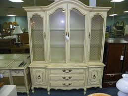 amazing vintage french provincial shabby chic china cabinet