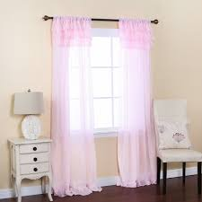 light pink sheer curtains chiffon curtains with ruffles so dreamy beautiful decor