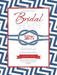 Nautical Bridal Shower Invitations Nautical Theme Bridal Shower Invitation Stock Vector Art 505295732
