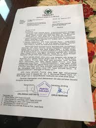 detik ridwan kamil isi surat pencabutan dukungan golkar untuk ridwan kamil