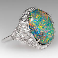 matrix opal ring gemstone and cocktail rings eragem