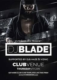 blade dj free flyer template http freepsdflyer com blade dj