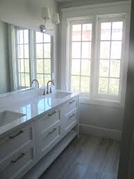 Bathroom Frameless Mirrors Bathroom Long Narrow White Bathroom Vanity For Double Feat Large