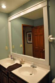 amazing big bathroom mirrors come with white painted wall and