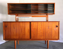 1950 Modern Furniture by Danish Modern Mid Century Teak Credenza Cabinet Wall Unit