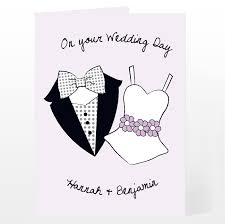 wedding message card wedding message personalised card on your wedding day gifts