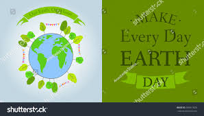 postcard earth day april 22 earth stock vector 265911029
