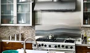 stainless steel backsplash kitchen inspiration from kitchens with stainless steel backsplashes