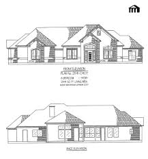 One Story  Bedroom House Plans - 1 story home designs