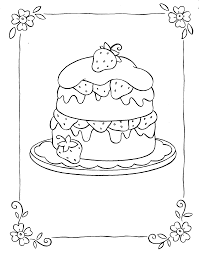 cake coloring pages getcoloringpages com