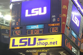 lsu won a basketball game lsu 92 tennessee 82 and the valley shook
