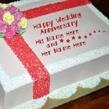 227 Happy Wedding Anniversary To Wedding Anniversary Cake Name Picture Anniversary Cakes Name
