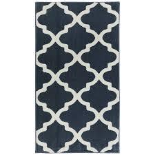 Lowes Indoor Outdoor Rugs by Shop Allen Roth Elysian Trellis Dark Slate Rectangular Indoor