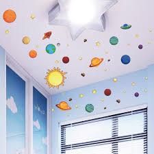 Nursery Decor Stickers Universe Wall Stickers For Room Nursery Adesivos De Parede