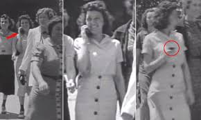 how to time travel images Was this the world 39 s first mobile phone 1938 film shows woman jpg