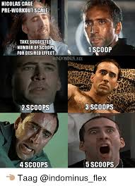 Nicolas Cage Memes - nicolas cage pre workout scale take suggested number of scoops 1