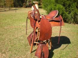 high back vintage cowboy shooting collectible horse saddle ready