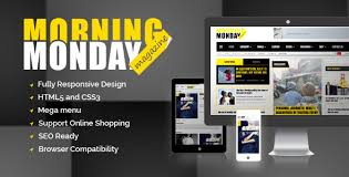 newspaper theme html5 monday morning magazine html5 template monday morning is a