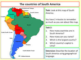 the countries of south america by chri2834 teaching resources tes