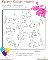 Number 3 Coloring Page Worksheet Education Com Number 3 Coloring Page