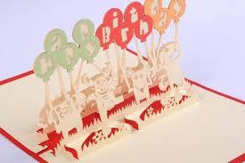 10 pieces lot animal theme handmade 3d pop up cartoon dog cow