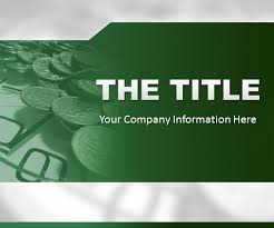 powerpoint template green finance background free ppt slide