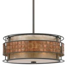 Quoizel Ceiling Light Quoizel Mc842crc Renaissance Copper Laguna 3 Light Drum Pendant