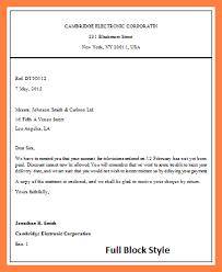 8 example of application letter block format receipts full block