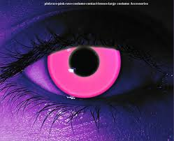 uv reactive contacts translucent neon pink normal