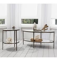 glass coffee table with glass shelf bronze oval glass coffee table