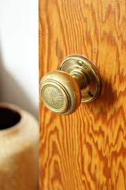 Brass Door Knobs How To Remove Lacquer From Brass To Reveal A Brushed Finish An