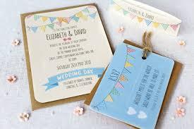 bunting wedding invitation collection