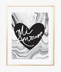 mi amour heart marble background print wall prints