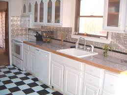 aluminum backsplash kitchen metal backsplash kitchen galvanized metal backsplash faux tin