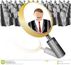 bureau recrutement icône des employés de recherche pour la loupe d agence de