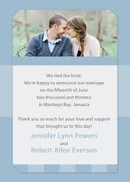 wedding announcements affordable blue photo wedding announcements ewa011 as low