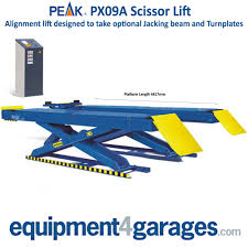 peak wheel alignment scissor lift 4 ton capacity px09a