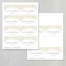 printable place card template instant download gold dots