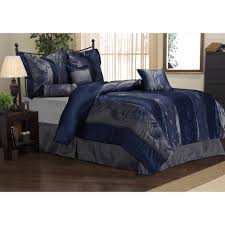 Jaclyn Smith Comforter Rosemonde 7 Piece Navy Blue Comforter Set Overstock Com