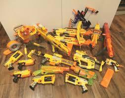 nerf car gun lot of 17 nerf guns blasters n strike vulcan recon stampede