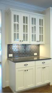 Glass Cabinet Kitchen White Cabinets With Grey Quartz Countertops I Want This Kitchen