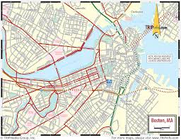 road map massachusetts usa boston ma map