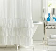 Ruffled Shower Curtains Ruffle Shower Curtain Pottery Barn